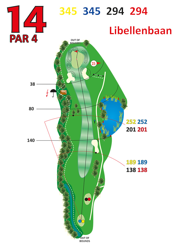 Layout libellenbaan hole 14