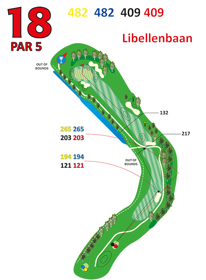 Layout libellenbaan hole 18