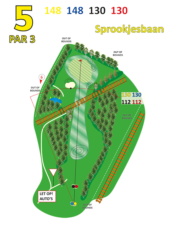 Layout sprookjesbaan hole 5